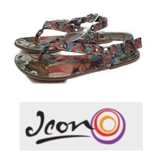 Icon Vacation T Strap Thong Sandal/ Ankle Strap